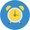 alarm clock, analog clock, clock, time, timepiece, timer, wall clock, watch icon
