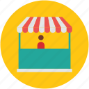 commercial building, market, market stand, shop, store icon