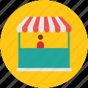 commercial building, market, market stand, shop, store