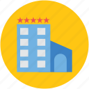 apartments, building, commercial building, five star hotel, flats, real estate icon