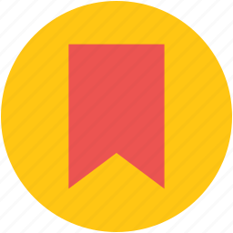 bookmark, bookmark banner, label, mark, ribbon, tag icon