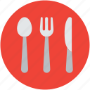 cutlery, dining, flatware, fork, knife, spoon, utensil icon