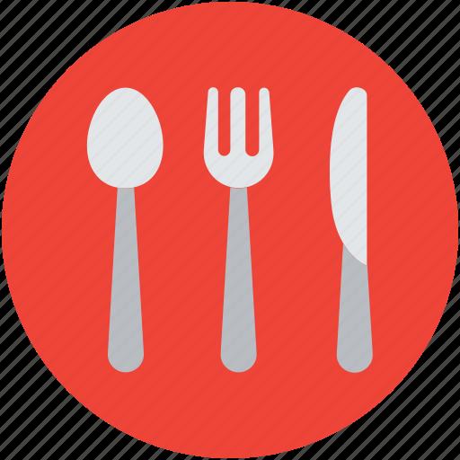 cutlery, dining, flatware, fork, knife, spoon, utensil icon