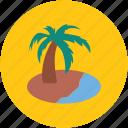 beach, island, palm tree, sea, sea sight, tree