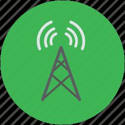 antenna, communication tower, internet, internet ?, wifi, wlan antenna icon