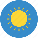 bright day, climate, hot weather, morning, sun, sunlight, sunny day icon