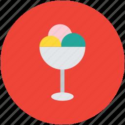 frozen dessert, frozen yogurt, ice cream, ice cream balls, sweet icon