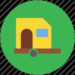 living van, living vehicle, transport, van, van dwelling, vanity van icon