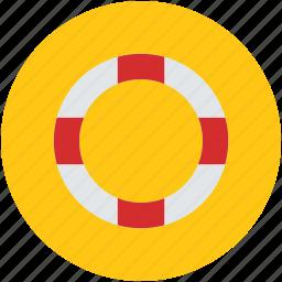 life ring, lifebelt, lifebuoy, lifesaver, ring buoy icon