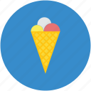 cake cone, cone, cone icecream, cup cone, dessert, ice cream, sweet icon