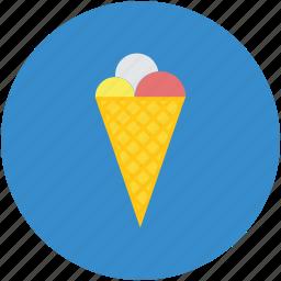 cake cone, cone, cone icecream, cup cone, dessert, ice cream, sweet icon