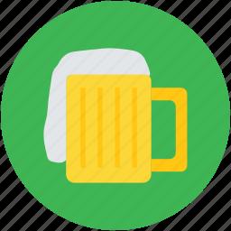 ale, beer, beer mug, beverage, chilled beer, drink icon