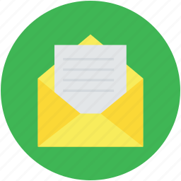 email, envelop, inbox, letter, mail, open envelope icon