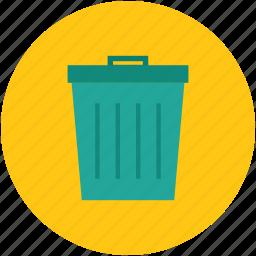 dustbin, trash, trashbin, trashcan, waste can icon
