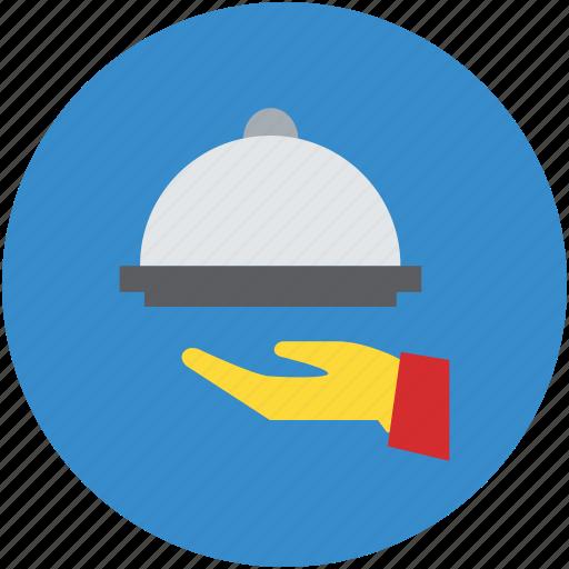 chef platter, food platter, food serving, hotel service, serving platter icon