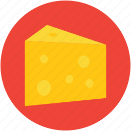 cheese, cheese piece, cheese portion, dairy product, food icon