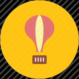 air balloon, hot air balloon, parachute balloon, sky diving, sky travel icon