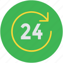 call service, customer service, customer support, twenty four, twenty four hours icon