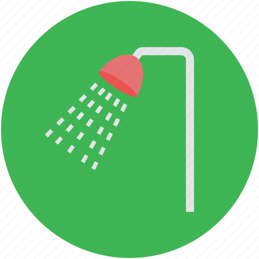 bath, bathing, personal cleanliness, shower, shower head icon