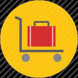 hand truck, hotel trolley, luggage, luggage cart, luggage trolley, trolley icon