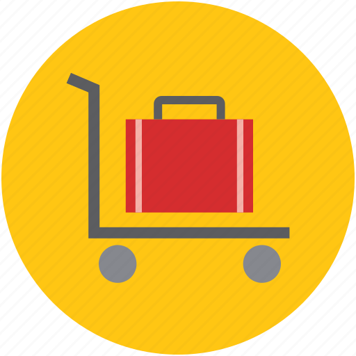 hand truck, hotel trolley, luggage, luggage cart, luggage trolley, trolley icon