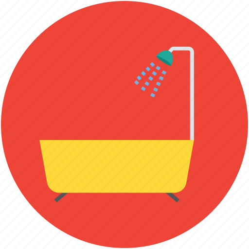 bath, bathing, bathroom, bathtub, jacuzzi tub, shower, showering icon