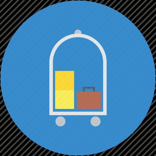 hand trolley, hotel service, hotel trolley, luggage, luggage trolley icon
