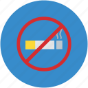 cigarette, no smoking, prohibited, smoking, smoking forbidden icon