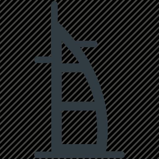 burj al arab, dubai, dubai monument, luxury hotel, united arab emirates icon