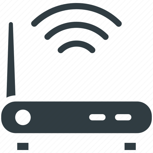 internet booster, internet device, wifi modem, wifi router, wifi signals icon