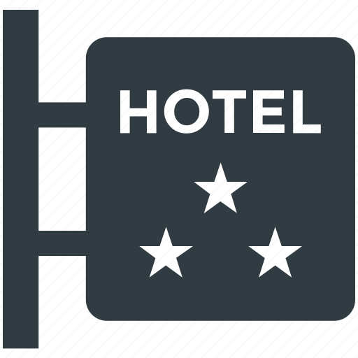 hotel info, hotel sign, hotel sign board, luxury hotel, three star hotel icon
