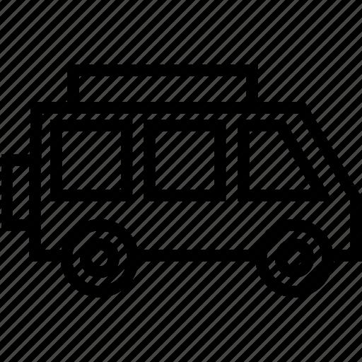 bus, minibus, minivan, public transport, transport, van icon