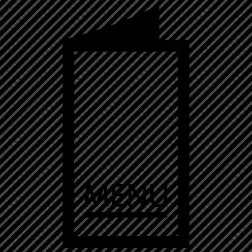 carte de jour, fill of fair, menu, menu card icon
