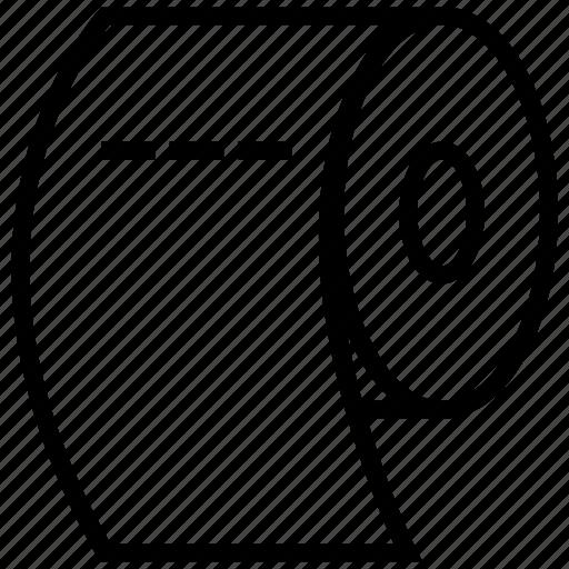 Paper, paper roll, roll, toilet paper, toilet roll icon - Download on Iconfinder