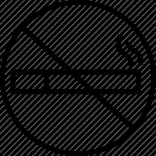no smoking, prohibited, smoking prohibited, warning icon