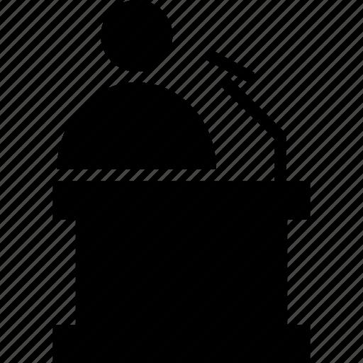 podium, speaker, speech, speech podium icon