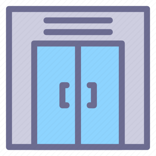 Elivator, lift, closed, crane, door, lifter, machine icon - Download on Iconfinder