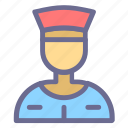 avatar, face, male, person, uniformed, waiter icon