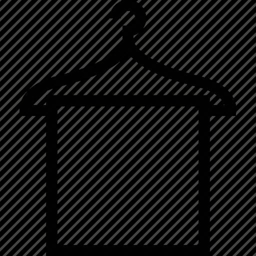 bathroom, clothes hanger, hotel, service, towel icon