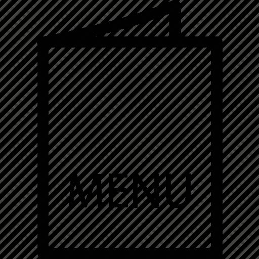 bill of fare, card, cuisine, direction, food, list, menu icon