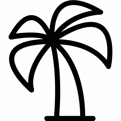hotel, palm, restaurant, travel, tree, vacation icon