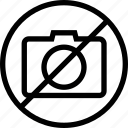 camera, forbidden, restricted, sign, video icon