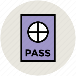 journey, pass, passport, tourism, travel, travel permit, visa icon