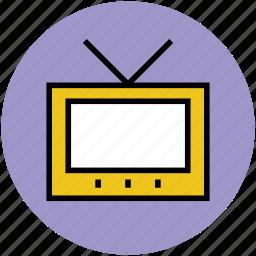 antenna, retro tv, television, tv, tv set, vintage tv icon