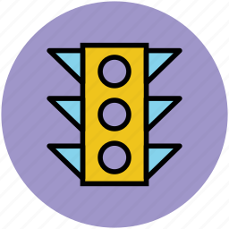 signal lights, stop lights, traffic lamps, traffic lights, traffic semaphore, traffic signals icon