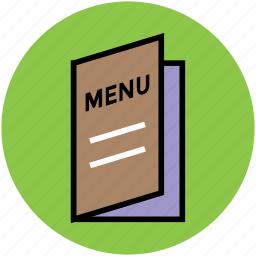 food menu, menu, menu brochure, menu card, restaurant icon