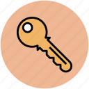 door key, key, lock key, password, unlock icon