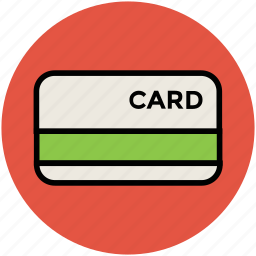 bank card, credit card, debit card, money card, plastic money, smart card, visa card icon