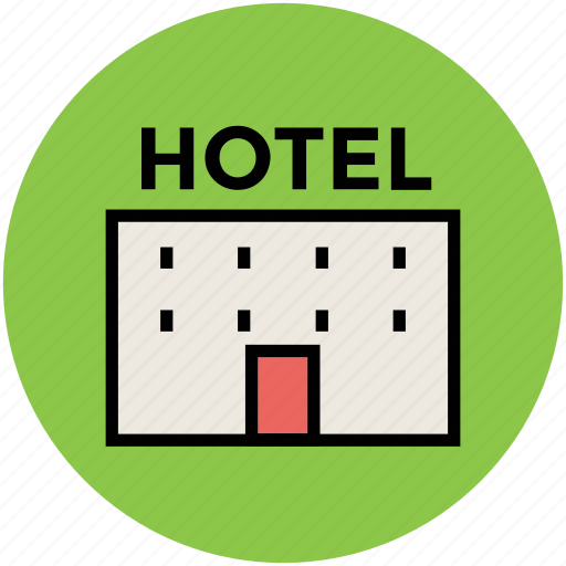building, holiday, hotel, hotel building, real estate, tourism, travel icon