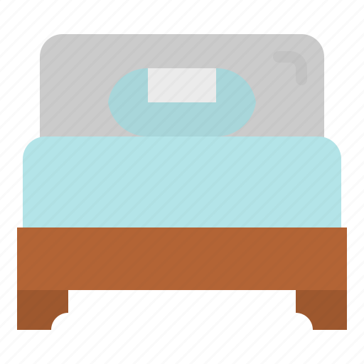 Bed, bedroom, hotel, single, sleep icon - Download on Iconfinder